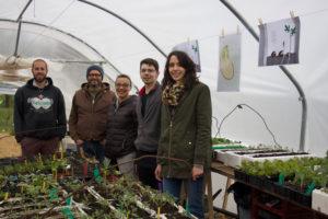 Journée visite de l'école de Cestayrols au jardin de Bernard Gisquet restaurant