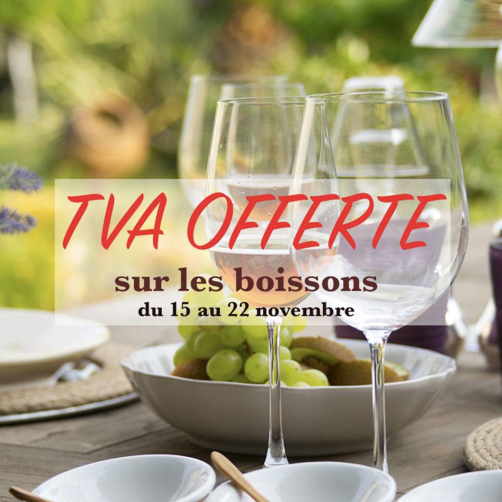 TVA offerte sur les boissons du restaurant de Bernard Gisquet Lou Cantoun
