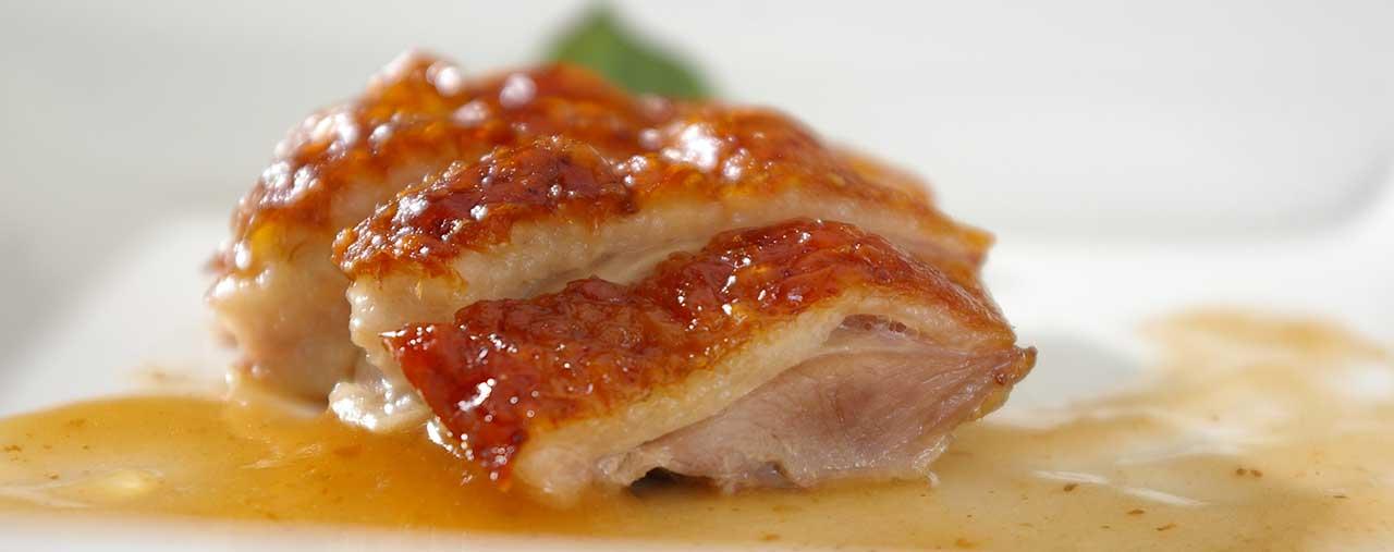 Canard laqué façon Lou Cantoun restaurant de Bernard Gisquet à Cestayrols, Albi, Gaillac, Tarn