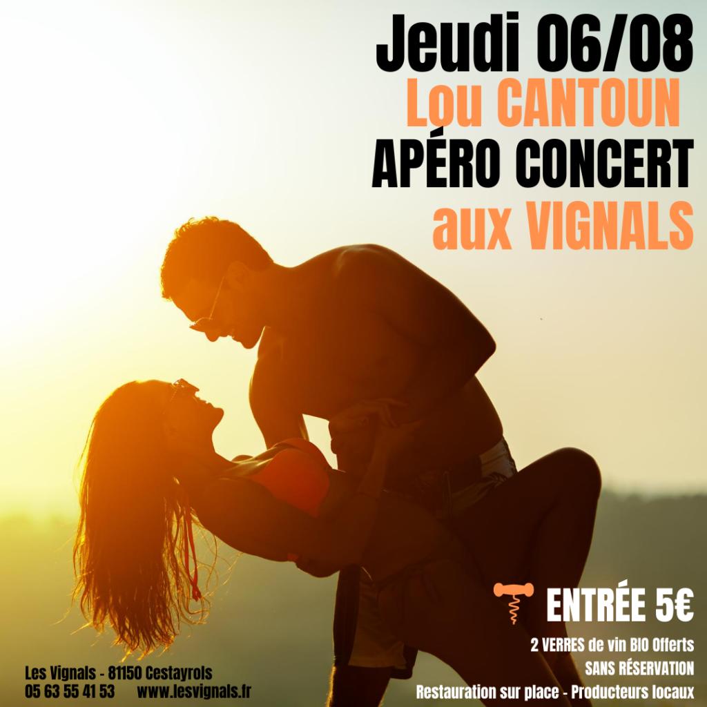 Apéritif Concert restauration aux Vignals avec la brigade de Lou Cantoun Bernard Gisquet