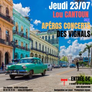 Soirée concert cubain au domaine des Vignals