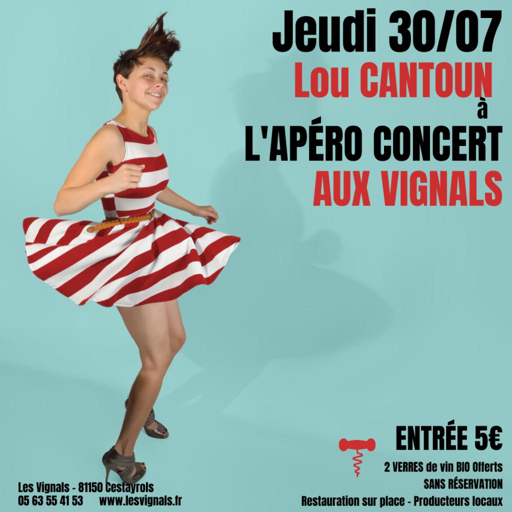 Apero Concert ds Vignals avec la brigade de Lou Cantoun Bernard Gisquet