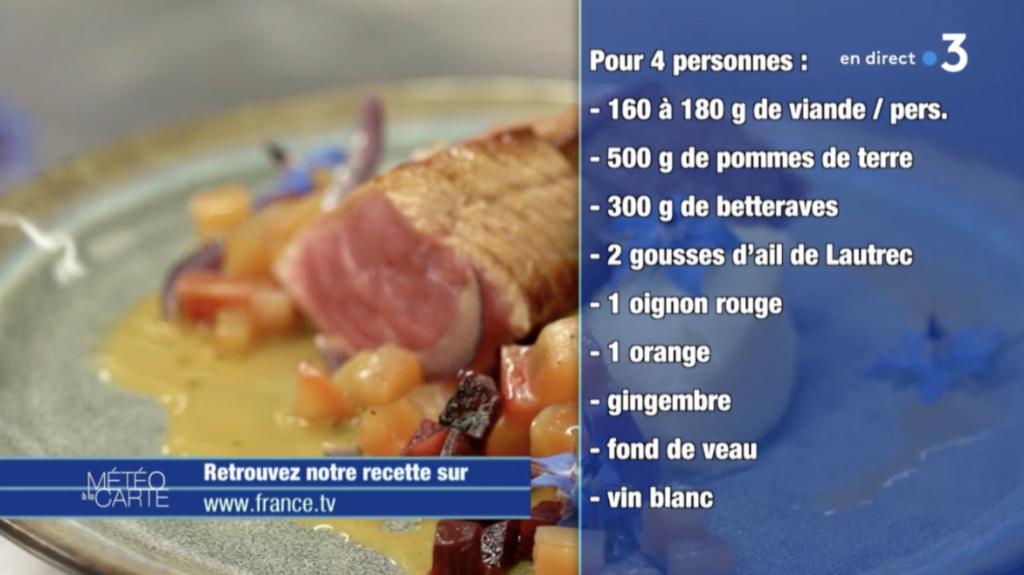 Recette en vidéo : pavés de veau, purée et poêlée de betteraves