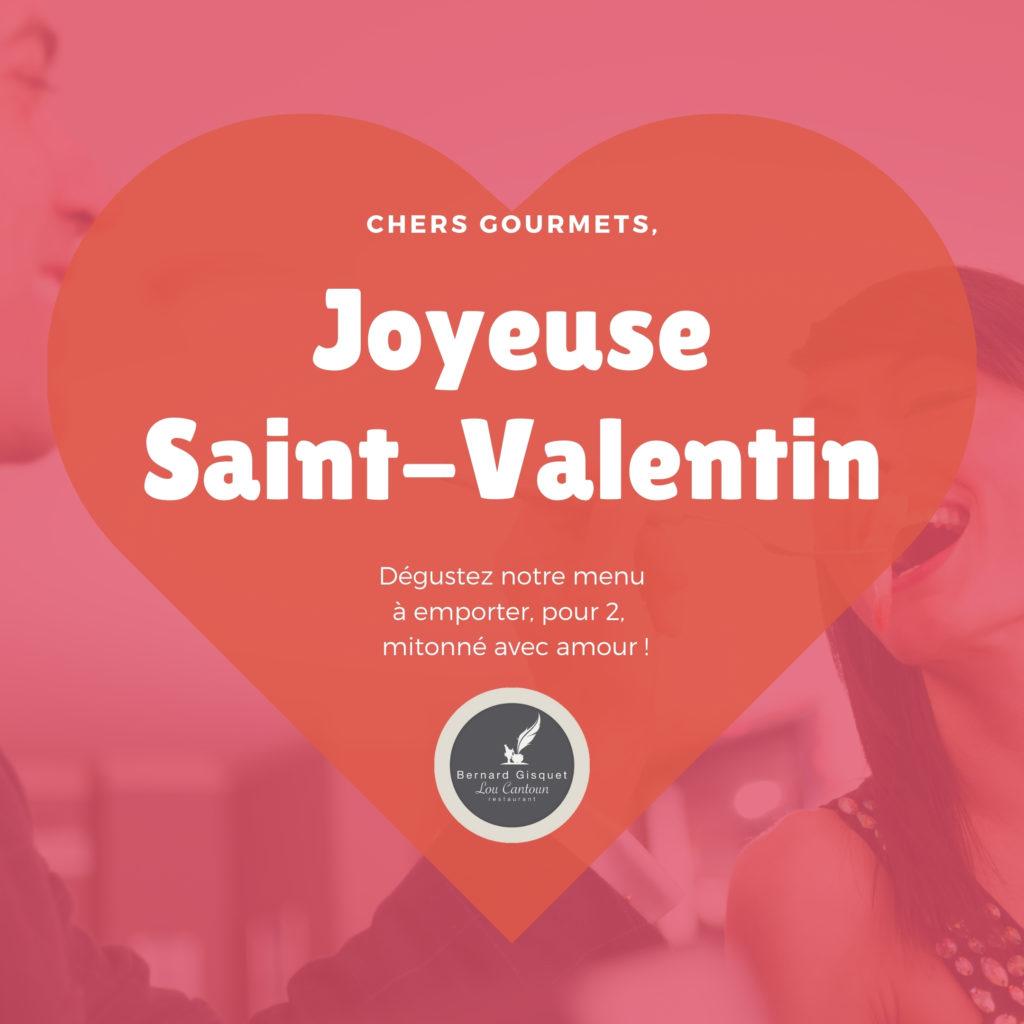 Saint-Valentin 2021, menu à emporter par Lou Cantoun de Bernard Gisquet