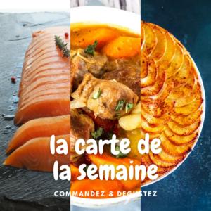 Menu de mars 2021 semaine 12  pour le restaurant Lou Cantoun de Bernard Gisquet