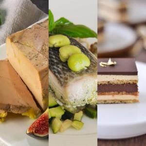 Lou Cantoun restaurant de Bernard Gisquet plats de la semaine 18 à Cestayrols dans le Tarn Foie gras Filet Bar Dessert Opera