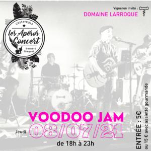 Voodoo Jam aux Apéros Concerts du Jeudi de Bernard Gisquet à Cestayrols