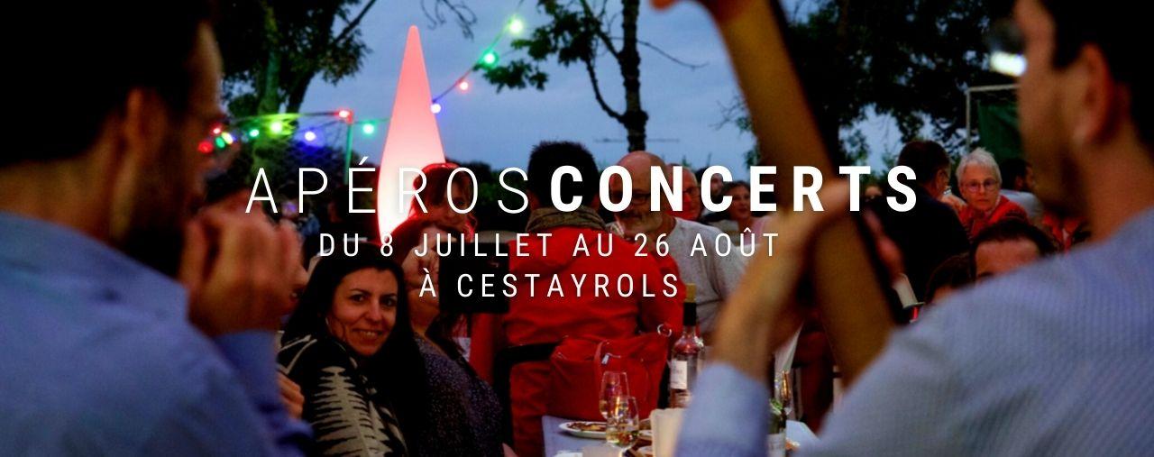 Apéros concerts du jeudi soir à Cestayrols dans le Tarn tout au long de l'été 2021 chez Bernard Gisquet, restaurant Lou Cantoun