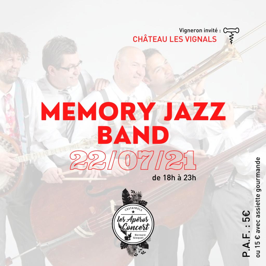 Le groupe Memory Jazz Band aux Apéros Concerts du Jeudi de Bernard Gisquet à Cestayrols
