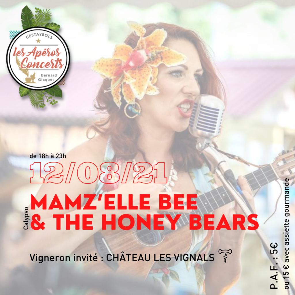 Le groupe de calypso Mamz'elle Bee & The Honey Bears aux Apéros Concerts du Jeudi de Bernard Gisquet à Cestayrols