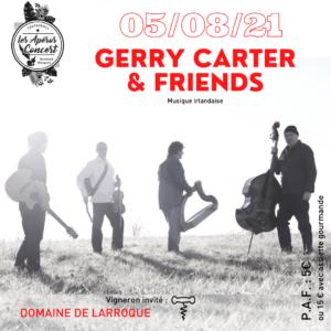Apéro concert du jeudi chez Bernard Gisquet à Cestayrols dans le Tarn avec Gerry Carter & Friends groupe de musique irlandaise
